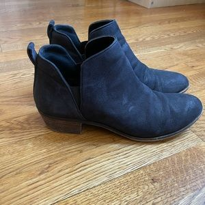 Nordstrom pebble leather black riding booties